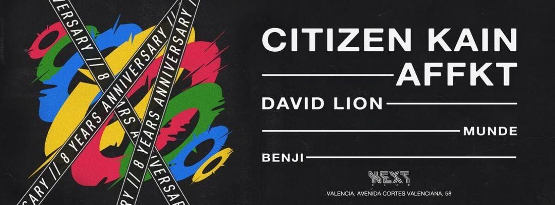 Next Club pres. Citizen Kain & AFFKT-Eventplakat