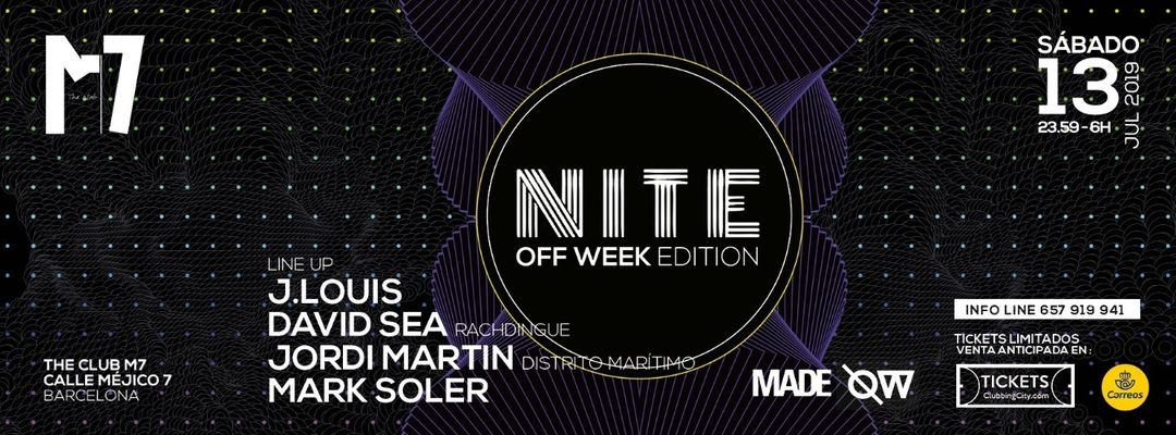 Cartel del evento NITE | Electronic Session - OFF Week Edition
