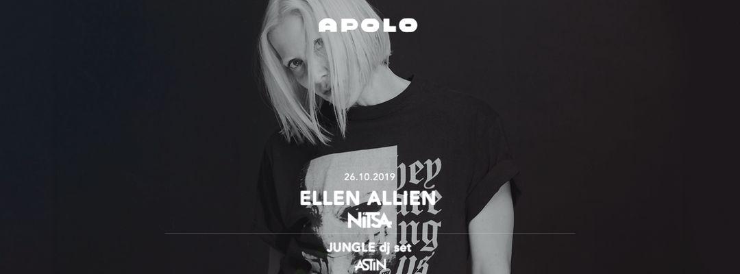 Nitsa Club: Ellen Allien | Astin Club: Jungle DJ SET-Eventplakat