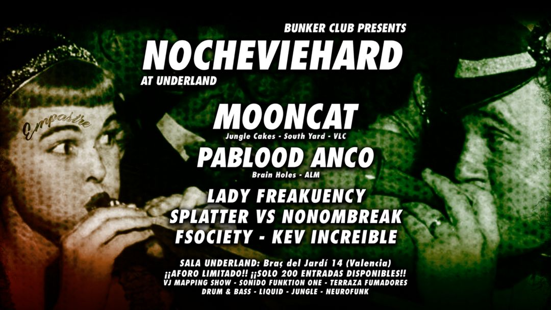 Cartel del evento NOCHEVIEHARD by BUNKER CLUB
