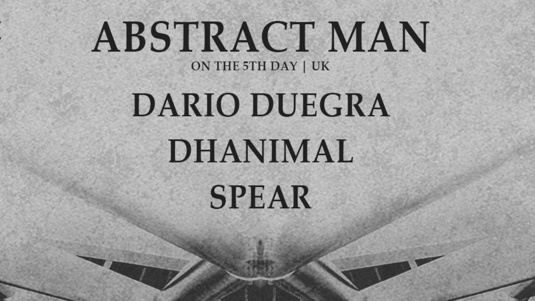 Cartel del evento NODE w/ Abstract Man ❚ Dario Duegra ❚ Dhanimal ❚ Spear