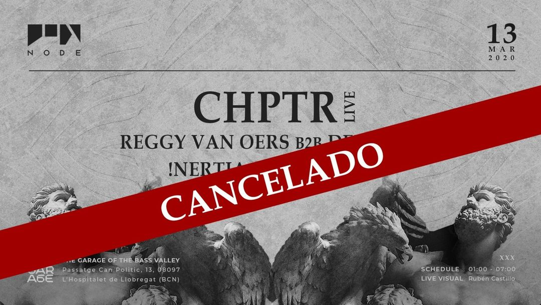 Capa do evento NODE w/ CHPTR live ❚ Reggy van Oers ❚ Deepbass ❚ !nertia ❚ Dhanimal