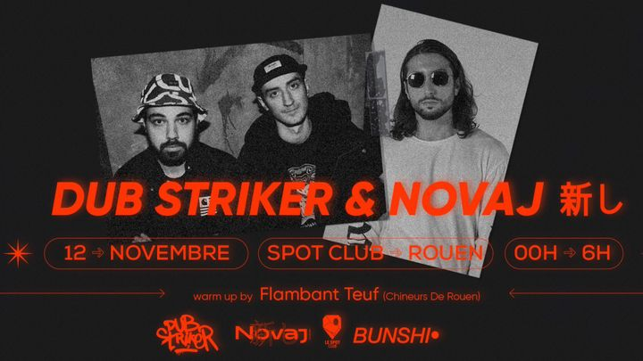 Cover for event: NOVAJ TOUR : DUB STRIKER + Di Barsotti aka Novaj 新し