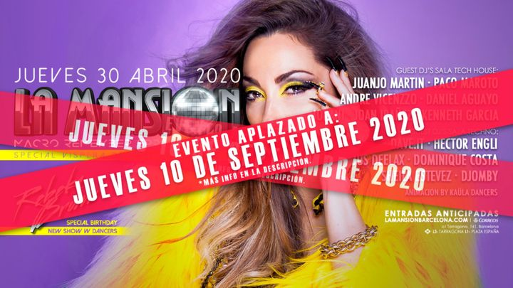 Cover for event: [NUEVA FECHA] Rebeka Brown | La Mansion - Macro Remember Spring Festival
