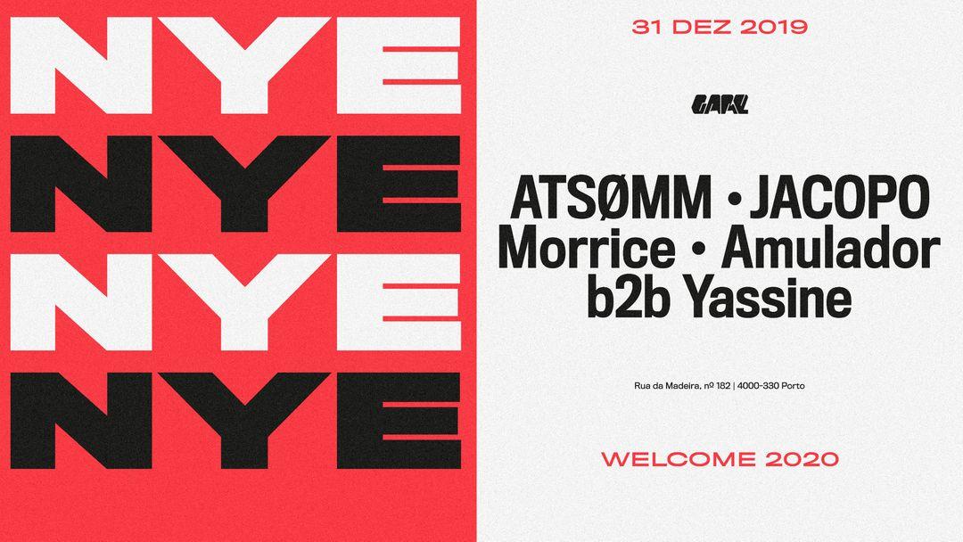 Couverture de l'événement NYE 2020 - AtsØmm, Jacopo, Morrice, Amulador b2b Yassine