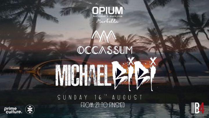 Cover for event: OCCASSUM - OPIUM BEACH MARBELLA - DOMINGO 16 AGOSTO