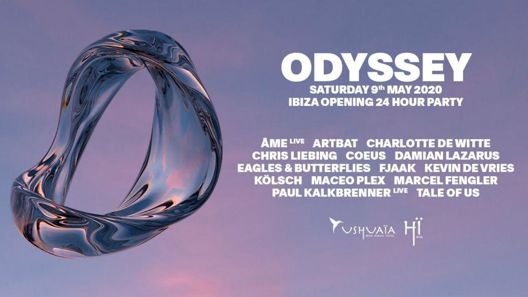 Cartel del evento Odyssey 2020 - 24h Opening Party - Ushuaïa & Hï Ibiza