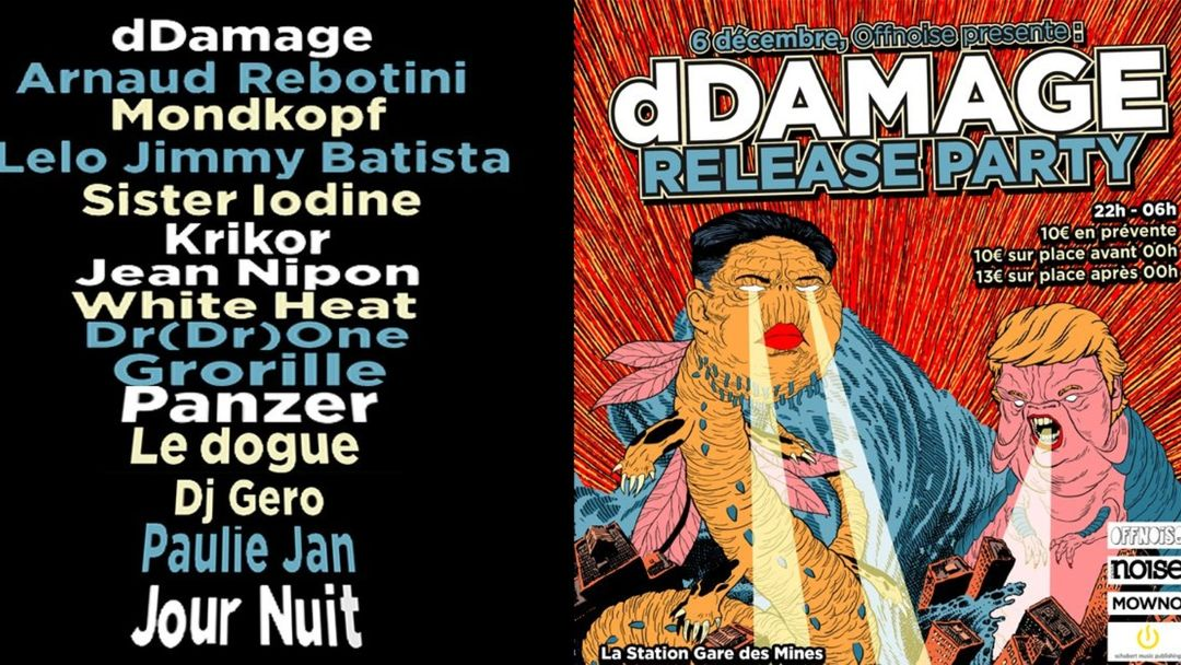 Cartel del evento Offnoise presente dDamage release party