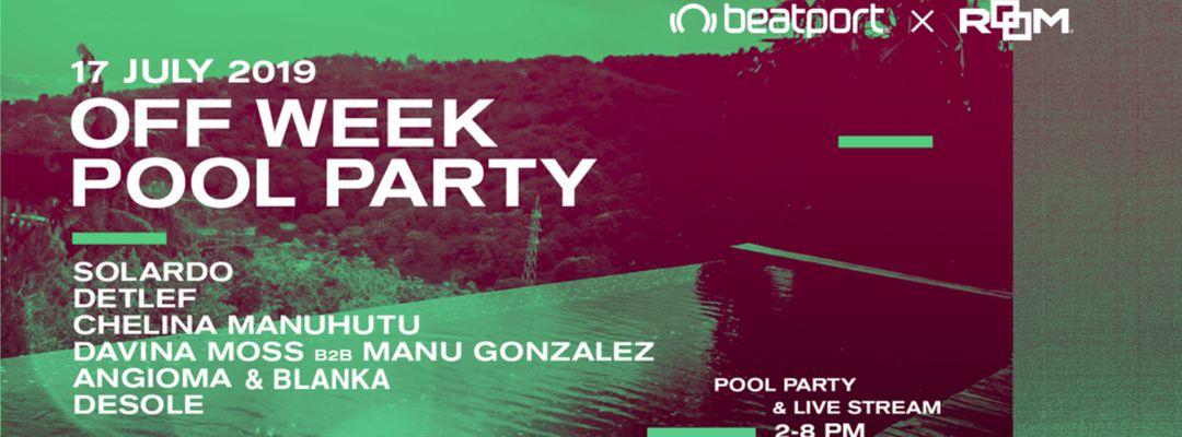 Cartel del evento Offweek Room Lab w. Beatport Pool party