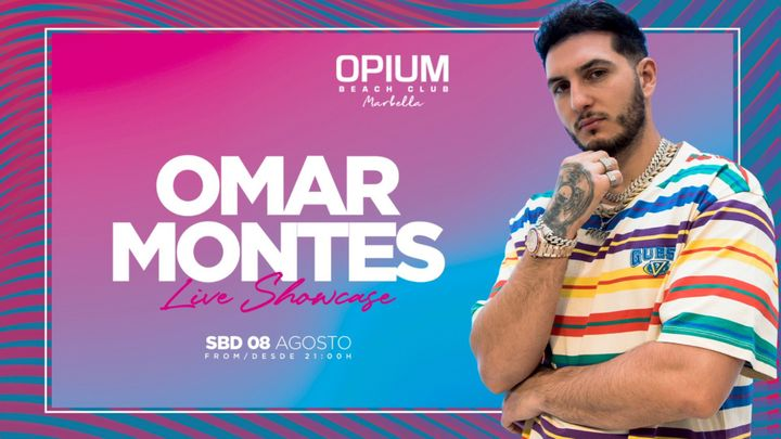 Cover for event: OMAR MONTES - OPIUM BEACH MARBELLA - SABADO 8 AGOSTO