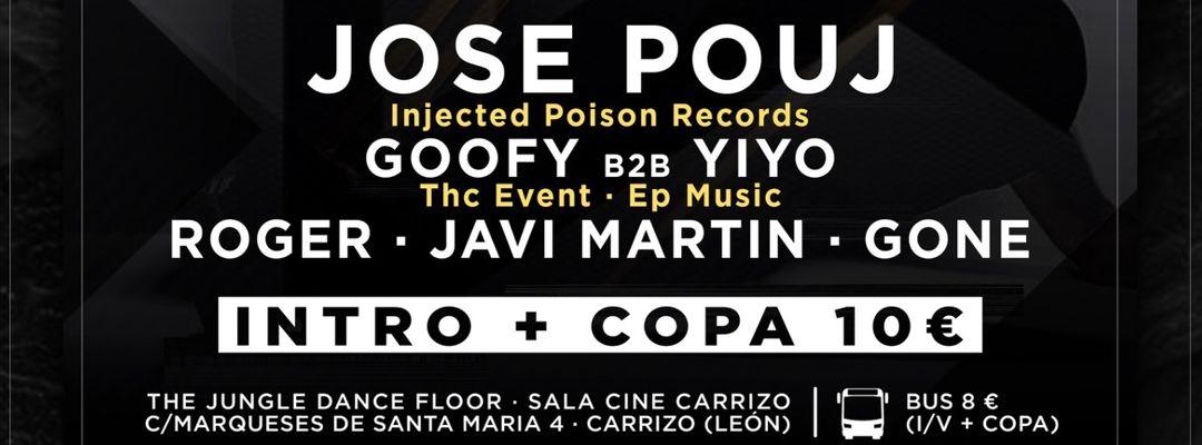 Cartel del evento OnhceT en The Jungle: Jose Pouj (20/07)