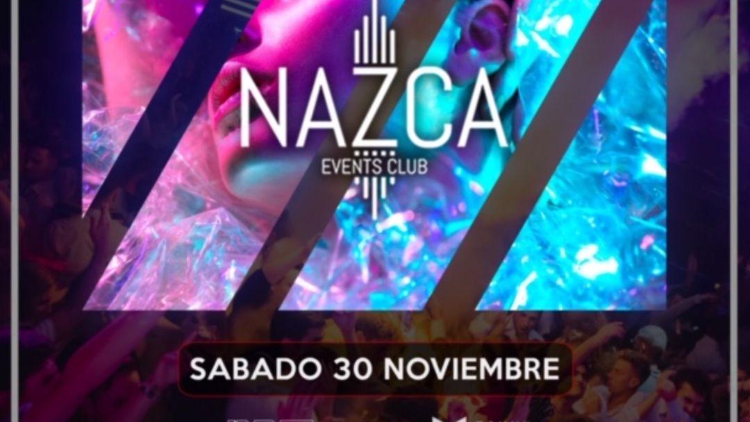 Cartel del evento ONLY NAZCA sábado 30 noviembre