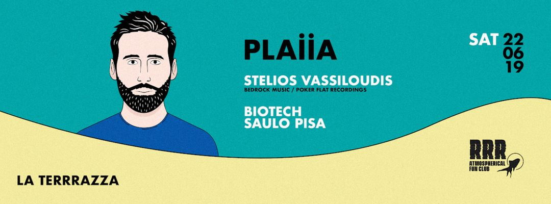 Opening PLAIIA w/ Stelios Vassiloudis, Biotech Patagonia, Saulo Pisa-Eventplakat