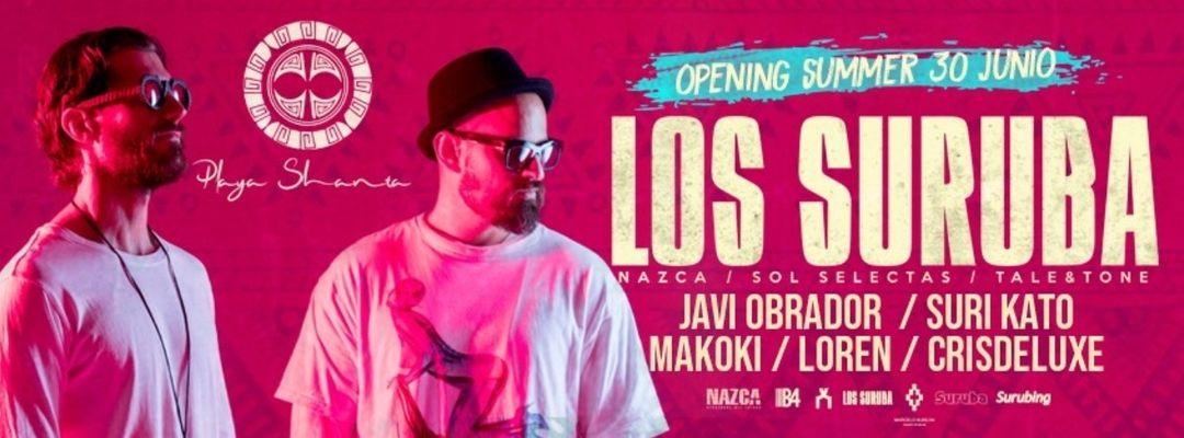 Opening Playa Shanta / Los Suruba-Eventplakat