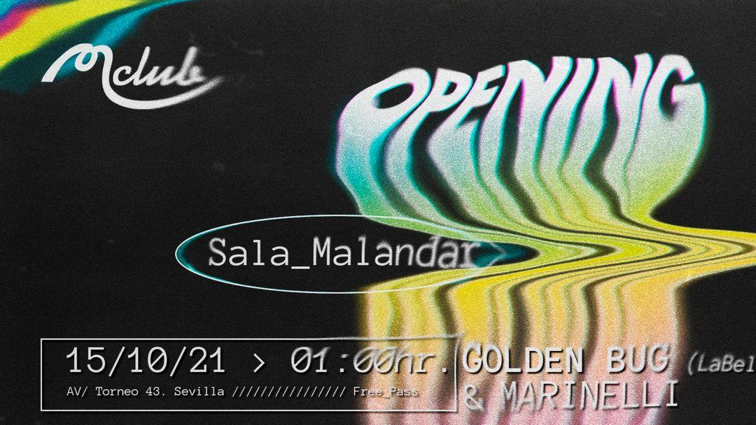 Cartel del evento Opening Sala Malandar