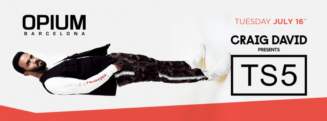 Capa do evento Opium Barcelona pres. Craig David