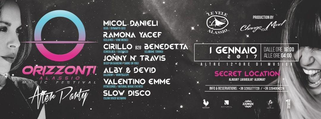 Couverture de l'événement Orizzonti Alassio Music Festival - After Party