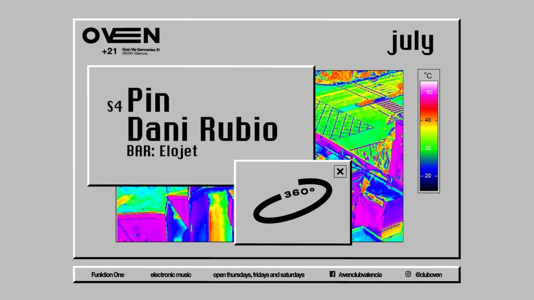 Cartel del evento Oven 360 - Pin & Dani Rubio.