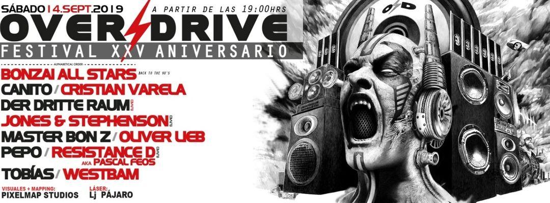 Cartel del evento Overdrive Festival XXV Aniversario
