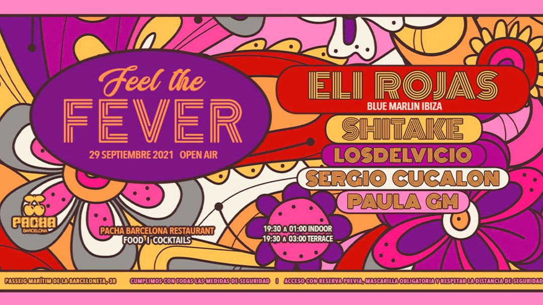Pacha Barcelona pres. Feel The Fever event cover