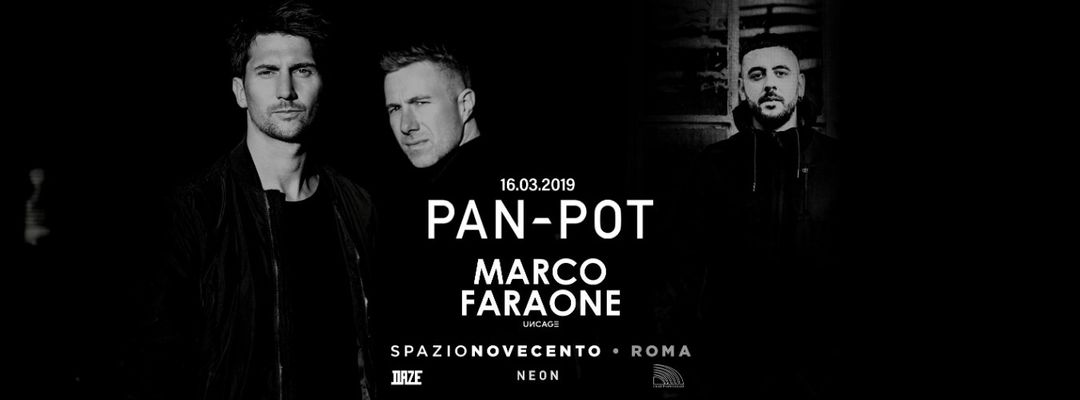 Pan-Pot / Marco Faraone at Spazio900 • Neon event cover