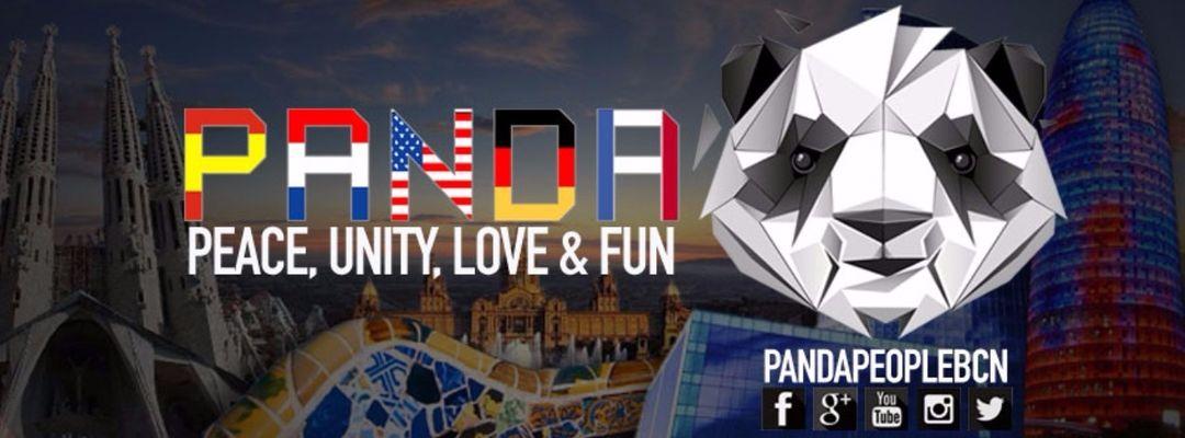 Cartel del evento Panda People Barcelona