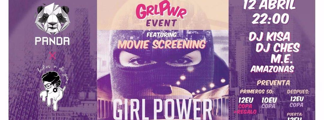 Cartel del evento Panda People Barcelona   Girl Power featuring Movie Screening