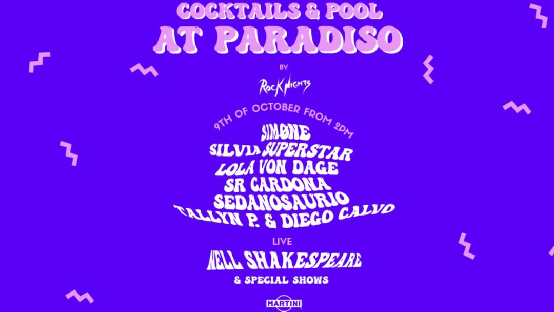COCKTAILS & POOL AT PARADISO BY Rock Nights event cover