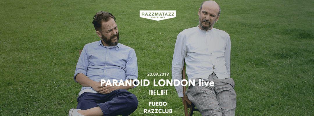 Cartel del evento Paranoid London LIVE @ The Loft & Fuego @ Razzclub