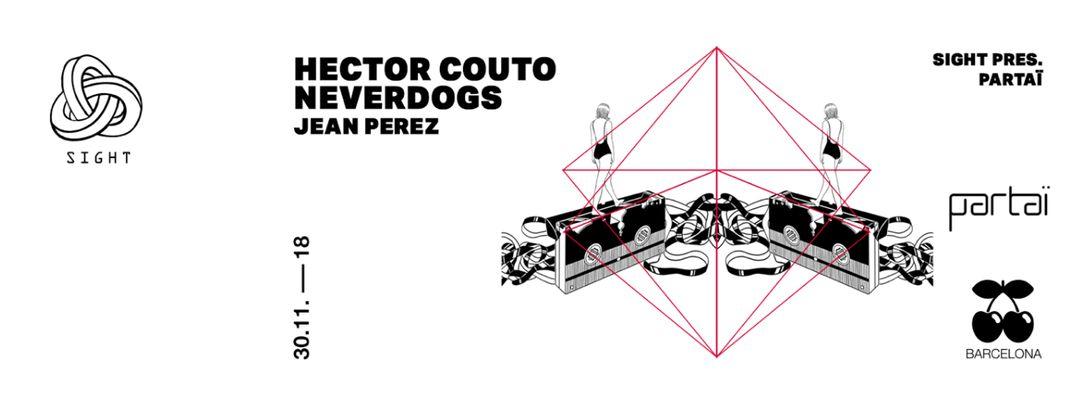 Cartel del evento PARTAI pres. Hector Couto, Neverdogs & Jean Pérez