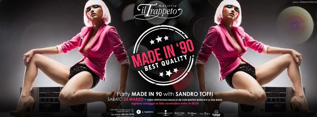 Cartell de l'esdeveniment Party #MadeIn90   Il Trappeto