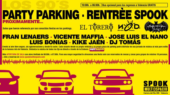 Cover for event: PARTY PARKING | RENTRÉE CLUB