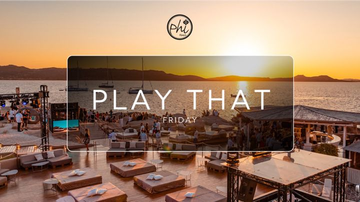 Cover for event: Play that Friday - August 6th
