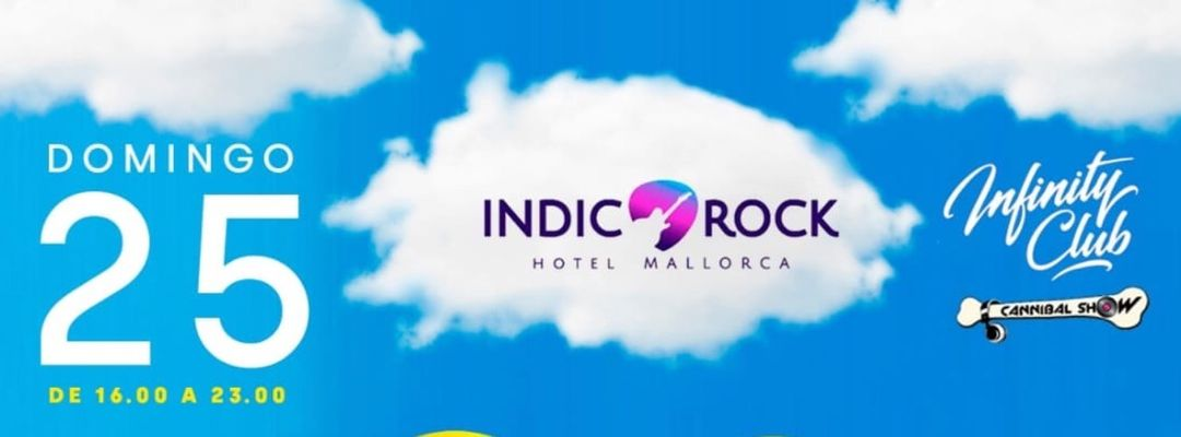 Cartell de l'esdeveniment Pool Party By Cannibalshow & InfinityClub at Indico Rock Hotel