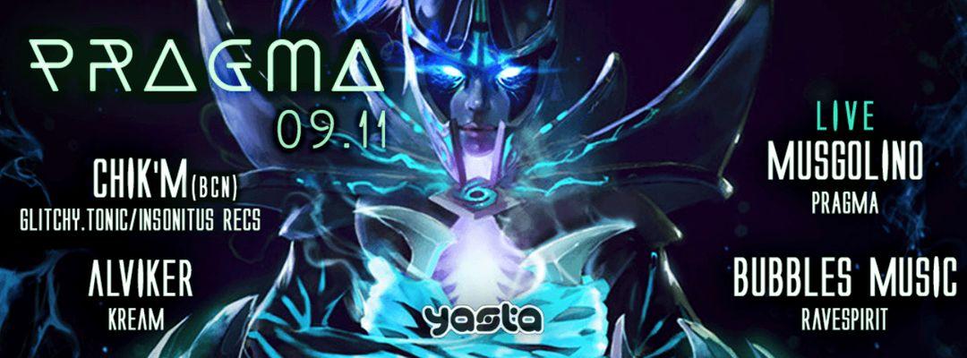 Cartel del evento PRAGMA 09.11