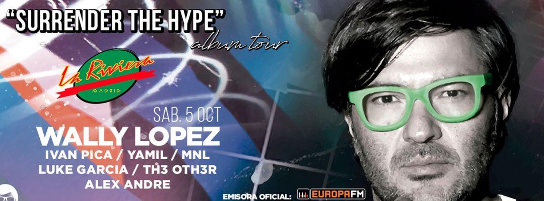 "Cartel del evento Primera parada del Album tour ""Surrender the hype"""