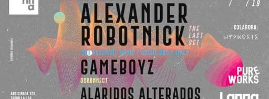 Couverture de l'événement Pure Works presenta Alexander Robotnick, Gameboyz, Alaridos Alterados.