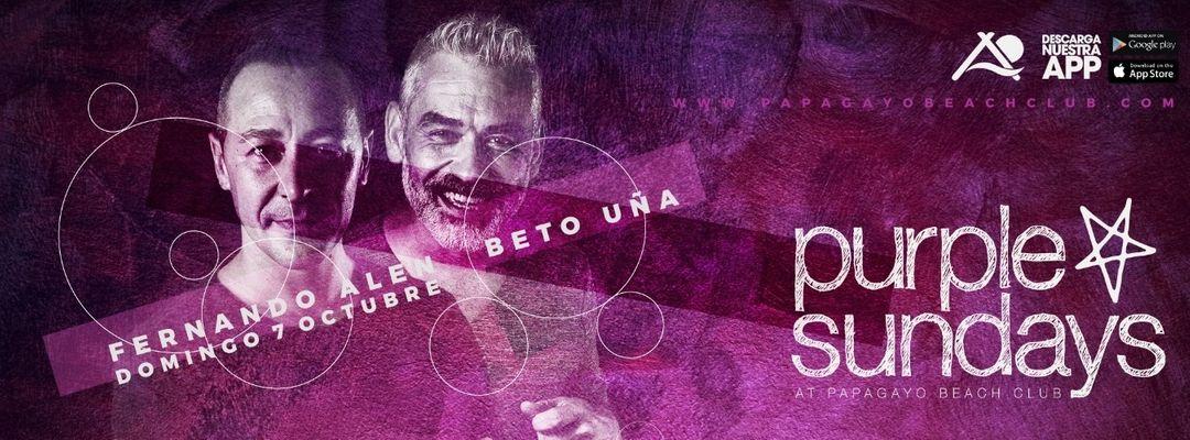 Cartel del evento 'Purple Sundays' with Fernando Alen
