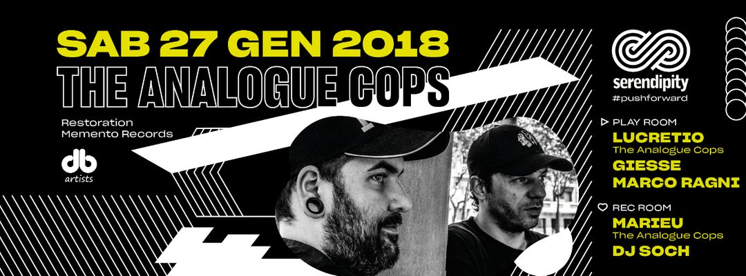 Cartel del evento Push Forward #13 - Guests: The Analogue Cops