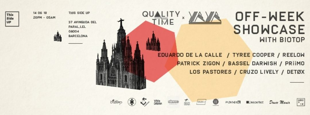 Cartel del evento QualityTime x YAYA presents Off-Week Showcase with Biotop