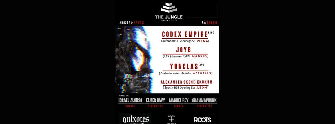 Cartel del evento Quixotes Techno Dystopia. Noche de Reyes (5/01)