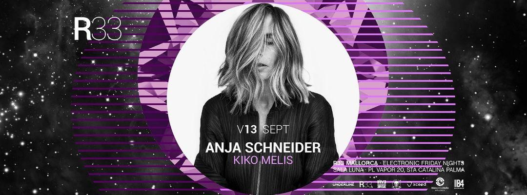 R33 Mallorca presenta: Anja Schneider + Kiko Melis-Eventplakat