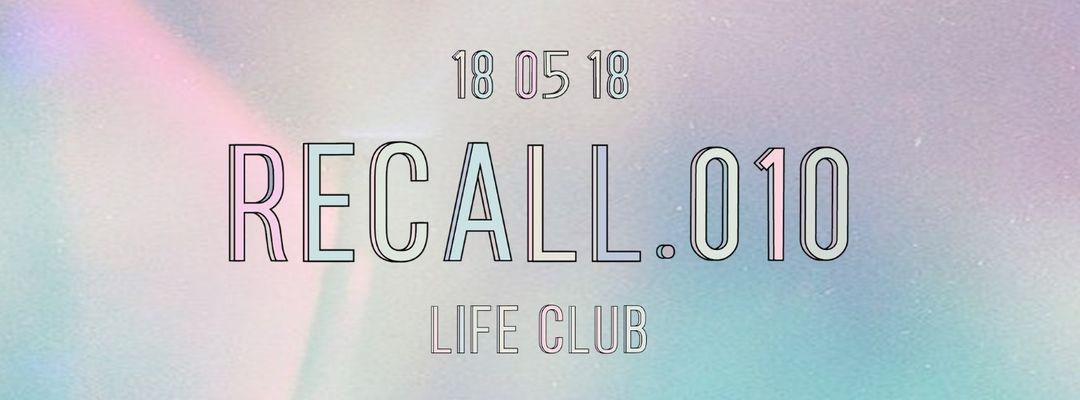 Cartel del evento Recall .010 - 2nd Anniversary
