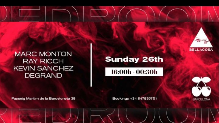 Cover for event: RED ROOM   Pacha Barcelona pres. BELLACOSA w/ Marc Monton, Ray Ricch, Kevin Sánchez & Degrand