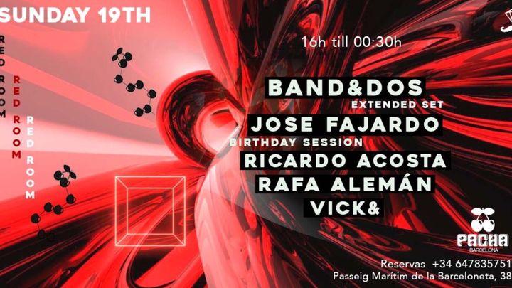 Cover for event: RED ROOM | Pacha Barcelona pres. PRIVILEGE EVENTS w/ Band&Dos, Jose Fajardo, Ricardo Acosta, Rafa Alemán & Vick&
