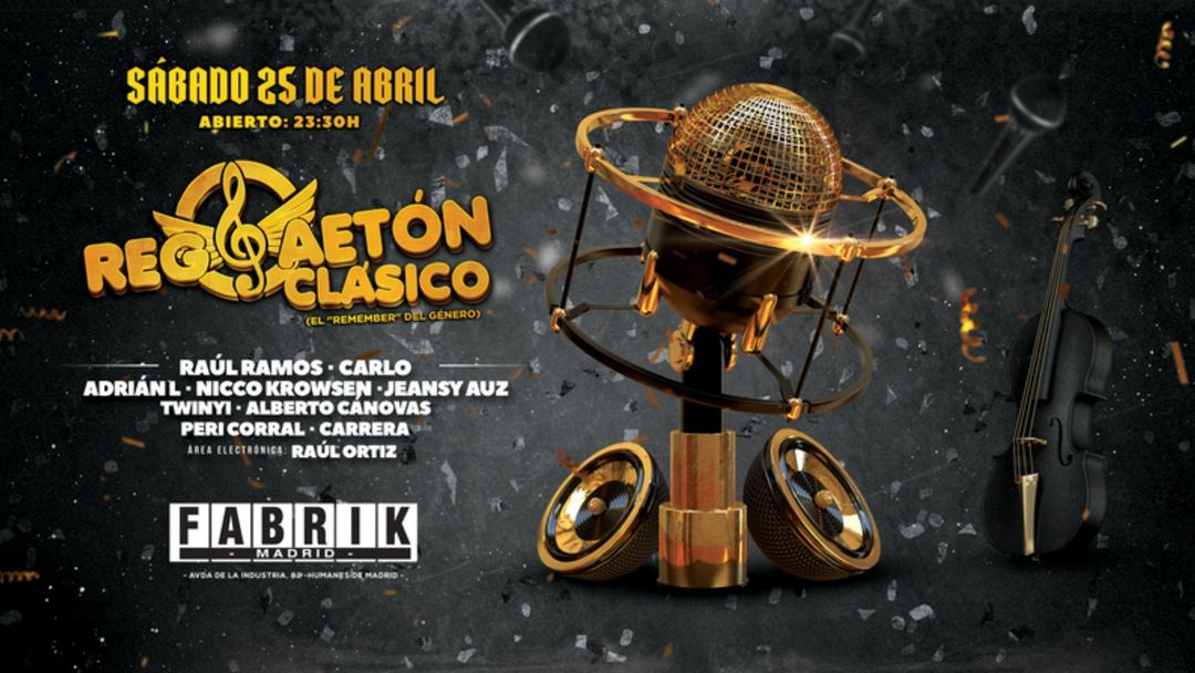 Cartel del evento Reggaetón Clásico