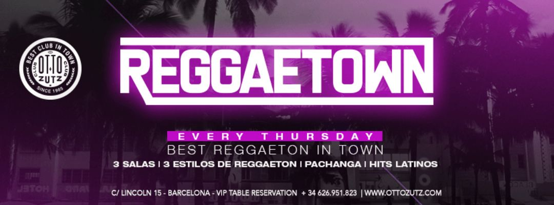 REGGAETOWN | Every Thursday event cover