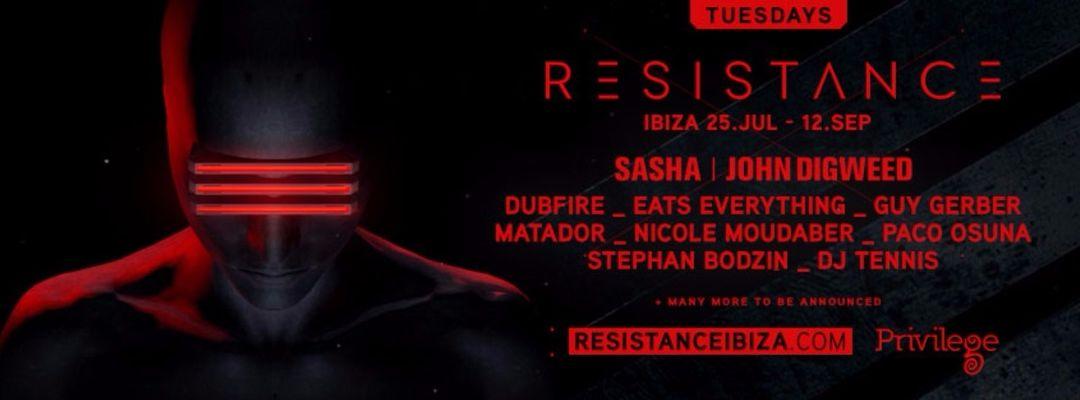 Cartel del evento Resistance Ibiza w/ Dubfire & Art Department