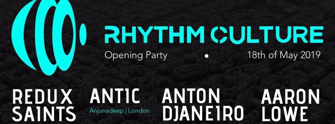 Cartel del evento Rhythm Culture Opening Party - Redux Saints - Antic