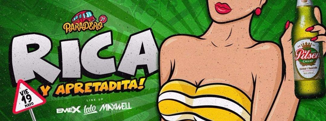 Cartel del evento RICA Y APRETADITA - VIE 19 Mayo // PARADERO 21